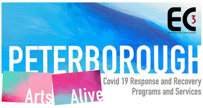 The Electric City Culture Council (EC3)'s Peterborough Arts Alive fund was established to help charitable arts organizations in the Peterborough area make it through the COVID-19 pandemic. (Graphic: EC3)