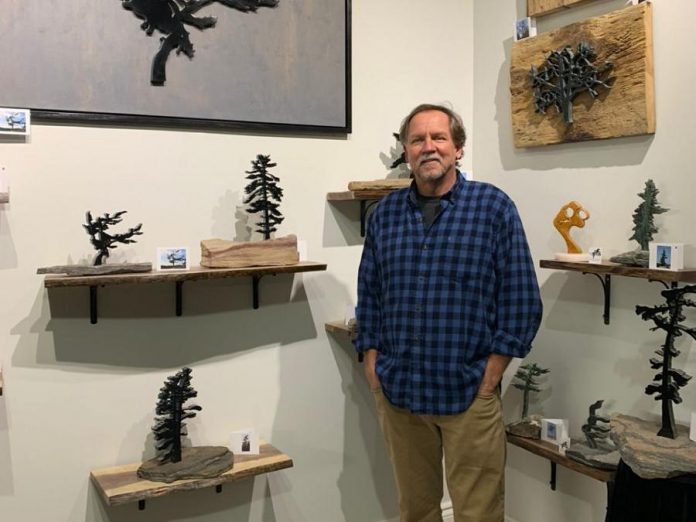 Sculptor Nick Leniuk with some of his artwork in Riverbend Studio. (Supplied photo)