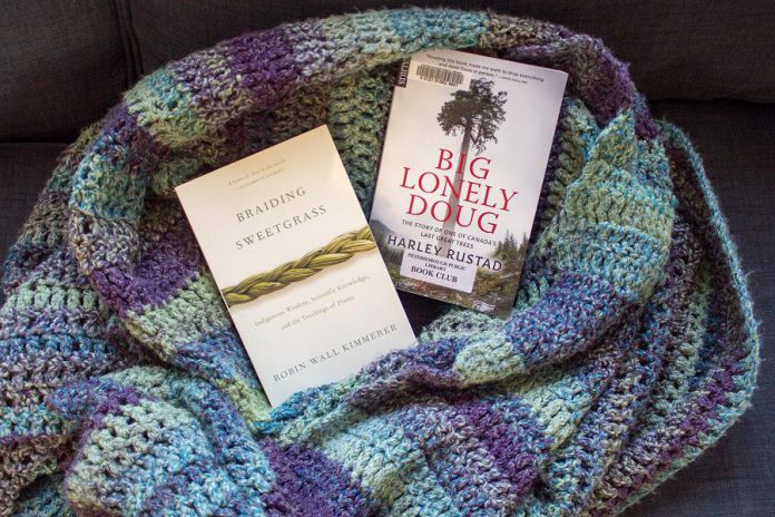 """""""Braiding Sweetgrass"""" and """"Big Lonely Doug"""" both offer remarkable insights into how we value nature as something we want for resources and as something we appreciate as a complex interconnected gift. Both books are available from the Peterborough Public Library. (Photo: Leif Einarson)"""
