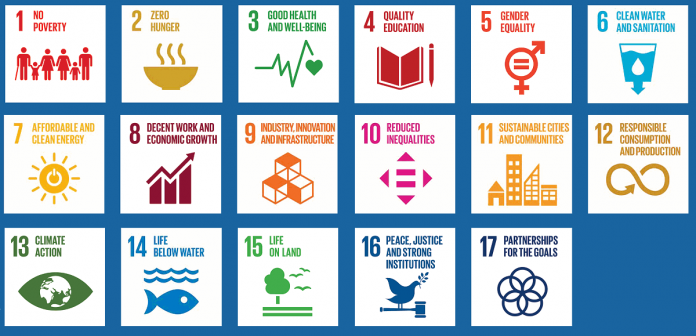 The 2030 Agenda, adopted by the United Nations general assembly in 2015, is a framework of 17 interconnected sustainable development goals addressing the global challenges we face, including those related to poverty, inequality, climate, environmental degradation, prosperity, and peace and justice.  (Graphics: United Nations)