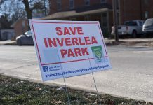 """A consultant report to the City of Peterborough proposing historic Inverlea Park as a possible location for a fire hall prompted local residents to launch a """"Save Inverlea Park"""" campaign. Northcrest Ward councillor and Peterborough Fire Services chair Andrew Beamer says City of Peterborough staff will be recommending to city council in January that the park be removed from the list of potential sites. (Photo: Bruce Head / kawarthaNOW.com)"""