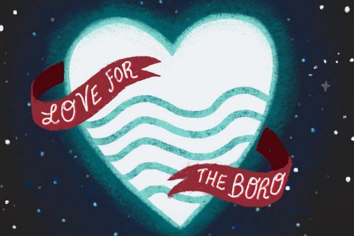 """Love for the Boro"" logo. (Photo courtesy of Love for the Boro)"