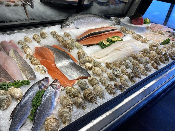 The seafood counter at Primal Cuts is full of fresh and sustainable varieties. Primal Cuts is a proud partner of Ocean Wise, an ocean conservation program that empowers consumers and businesses to choose sustainable seafood options that support healthy oceans. (Photo courtesy of Primal Cuts)