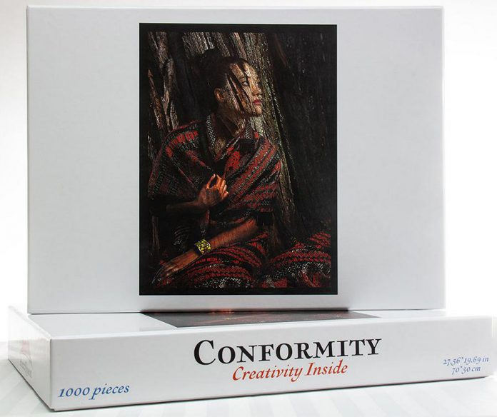 PuzzQuest is taking the challenge of puzzles another step further, with each jigsaw puzzle part of a series for puzzlers to complete the overall quest. The company's first puzzle is called Conformity. (Photo courtesy of PuzzQuest)