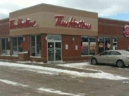 Four employees of the Tim Hortons at 289 Big Apple Drive in Colborne have tested positive for COVID-19. The Haliburton, Kawartha, Pine Ridge District Health Unit is advising customers who were served at the restaurant between November 23 and 30, 2020, to self-monitor and to get tested and self-isolate if they develop COVID-19 symptoms. (Photo: Tim Hortons)