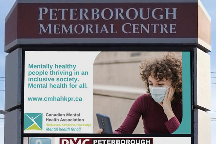 Peterborough-based Movingmedia Canada Inc. has partnered with the Canadian Mental Health Association Haliburton, Kawartha, Pine Ridge to share positive messages on digital billboards throughout Peterborough and Kawartha Lakes. (Supplied photo)