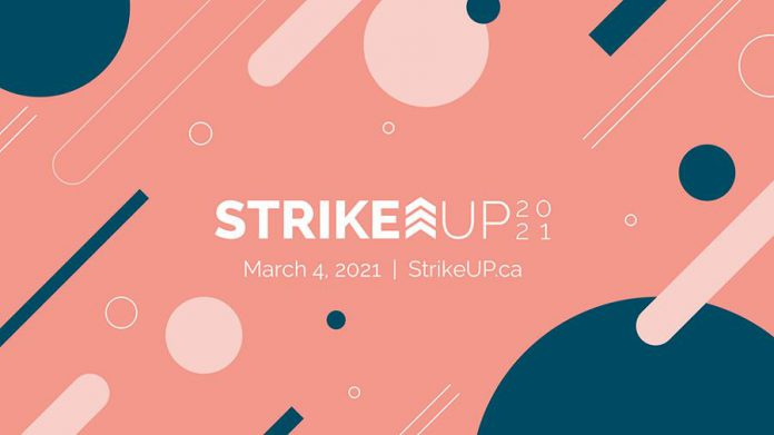 The free StrikeUP 2021 virtual conference runs from 8:30 a.m. to 2 p.m. on March 4, 2021. (Photo: StrikeUP / Facebook)