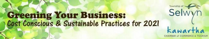 """Selwyn Township and Kawartha Chamber present """"Greening Your Business"""" sessions on January 13 and 19"""