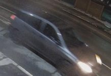 Police are seeking the owner or operator of this charcoal-grey four-door hatchback with black rims in the death of 40-year-old Corey Johnston on January 14, 2021 in Peterborough. (Police-supplied photo)