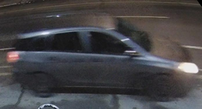 Police are seeking the owner or operator of this charcoal-grey four-door Toyota Matrix hatchback with black rims in the death of 40-year-old Corey Johnston on January 14, 2021 in Peterborough. (Police-supplied photo)