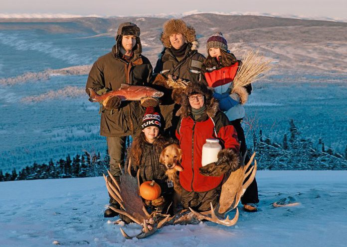 "In summer of 2017, filmmaker Suzanne Crocker (bottom right) and her family started their year-long quest to feed themselves from food gathered, grown, and hunted close to their home in the Yukon. In ""First We Eat"", which screens at the 2021 ReFrame Film Festival, Crocker explores their journey and the complexity of improving local food security in the far north. (Photo: Alex Hakonson)"