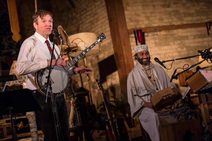 """Friends John Millard and Waleed Abdulhamid bring together their very different cultural and musical backgrounds in """"John & Waleed"""", a performance featuring both traditional and original music and storytelling. Public Energy is streaming the previously recorded performance online for free on January 31, 2021, following a real-time Q&A with the two musicians. (Supplied photo)"""