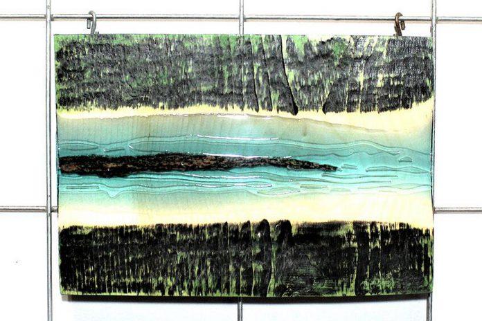 'A River Runs Through', an elemental art piece by Daniel Marlatt available for purchase through the Kawartha Lakes Arts Council's online marketplace. (Photo courtesy of Kawartha Lakes Arts Council and the artist)