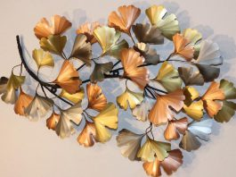 At the new online marketplace set up by the Kawartha Lakes Arts Council, you can purchase works by local artists who are members of the arts council, such as 'Ginko Leaf Branch', a metallic wall sculpture by Paul and Beverly Williams. (Photo courtesy of Kawartha Lakes Arts Council and the artists)