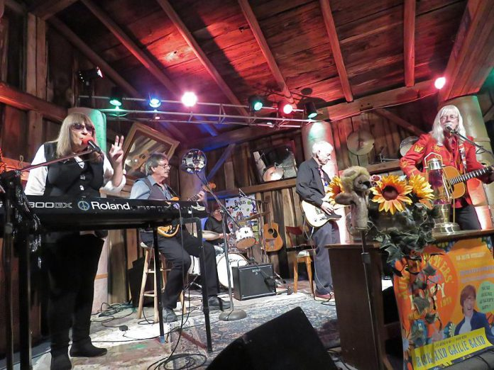 The second series of Andy Tough's Live! At The Barn recordings of local musicians kicks off on January 15, 2021 with a performance by well-known British Invasion pop-rockers the Rick & Gailie Band. (Photo: Linda Tough)
