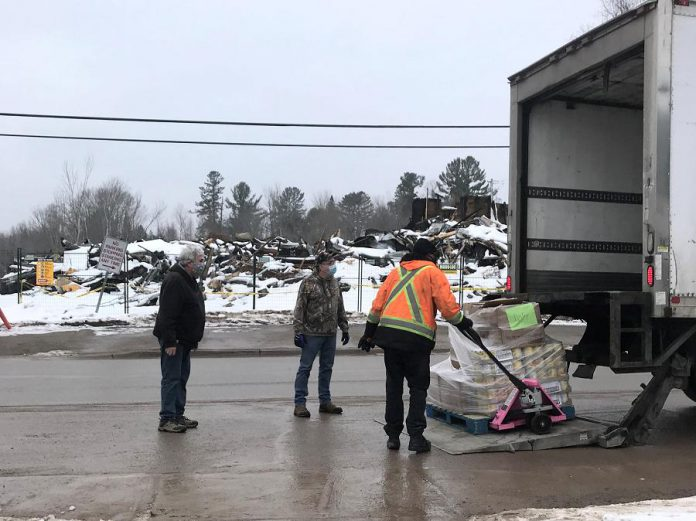 A delivery of donated food arrives from Loblaw's Real Canadian Superstore in Peterborough. (Photo courtesy of North Kawartha Food Bank)