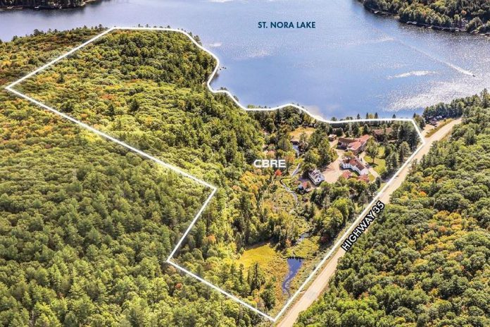 The property boundaries of the Frost Centre in Haliburton County. (Photo: CBRE Limited Real Estate Brokerage)