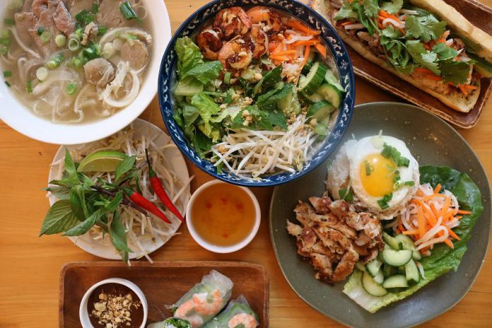 Some of the authentic Vietnamese menu items at the popular Hanoi House restaurant. You can find $25 and $30 value specials on their website. (Photo courtesy of Hanoi House)
