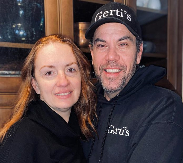 Gerti's owners Diana and Sean Hunter. In April 2019, the couple purchased the restaurant from original owners Gerti and Alban Sina. (Photo courtesy of Gerti's)