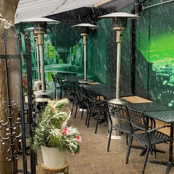 Gerti's had created a covered and heated back patio to allow for outside dining during the pandemic, until the most recent provincial lockdown forces restaurants to provide takeout and delivery only.  Gerti's co-owner Diana Hunter hopes everyone makes an effort to support locally owned businesses during the pandemic lockdown. (Photo courtesy of Gerti's)