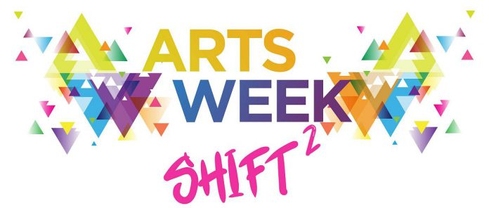 Funding applications for Artsweek SHIFT<sup>2</sup> are due by February 22, 2021, with the results announced on Monday, March 8. The pocket arts festival will run from March until the end of May, with the full Artsweek festival scheduled for September 2021, pandemic willing. (Graphic: Artsweek Peterborough)