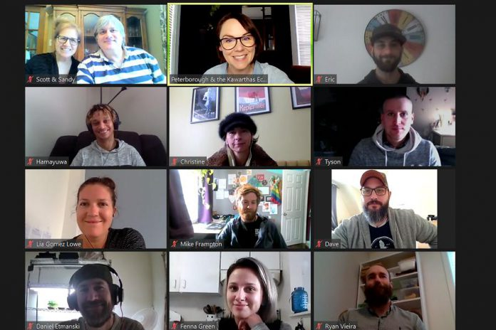 Participants in the winter intake of Peterborough & the Kawarthas Business Advisory Centre's Starter Company Plus program participating in a Zoom session. The eight-week program is designed to provide business training to aspiring or experienced entrepreneurs in the city and county of Peterborough who are launching a new business or expanding an existing one that's been operating for five years or less. (Photo courtesy of Peterborough & the Kawarthas Economic Development)