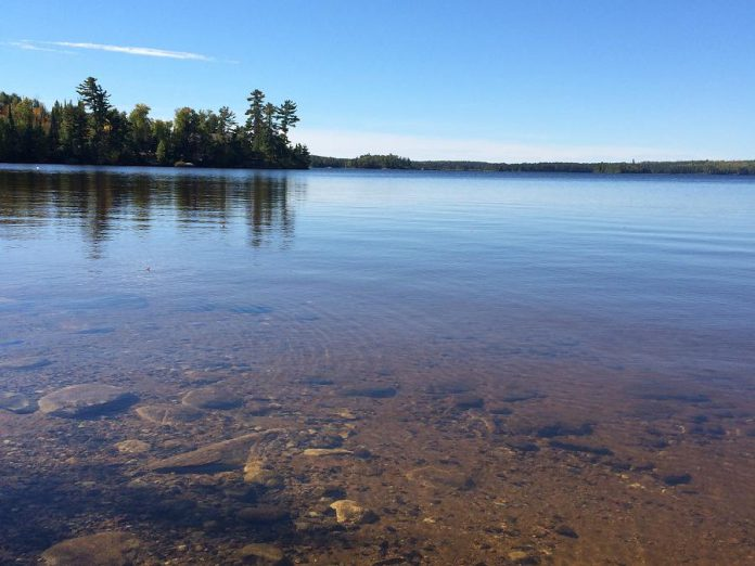 A sunny September day on Pigeon Lake, located within the traditional territory of the Michi Saagiig (Mississauga) Anishinaabek. Indigenous leadership is central to local action on the United Nations' sustainable development goals, two of which are Clean Water and Sanitation and Climate Action. (Photo: Gary Pritchard Jr.)