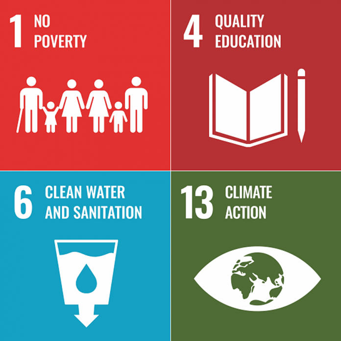 Of the 17 United Nations Sustainable Development Goals, four have been chosen as priorities for Peterborough/Nogojiwanong. They are No Poverty, Quality Education, Clean Water and Sanitation, and Climate Action.