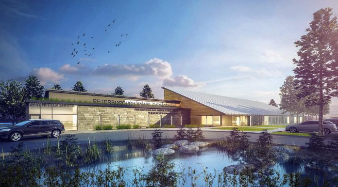 A rendering of the Peterborough Humane Society's new animal care centre.  In recognition of Cynthia Richards' $741,000 gift, the cat adoption program at the Peterborough Humane Society's new animal centre will be named the Cynthia Richards Cat Adoption Program. (Supplied graphic)