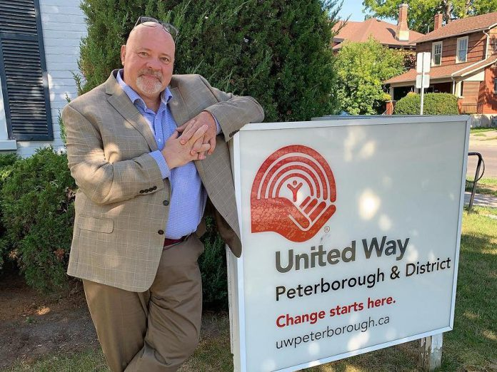 Jim Russell, chief executive officer of the United Way Peterborough and District, pictured here before the pandemic. (Photo courtesy of United Way)