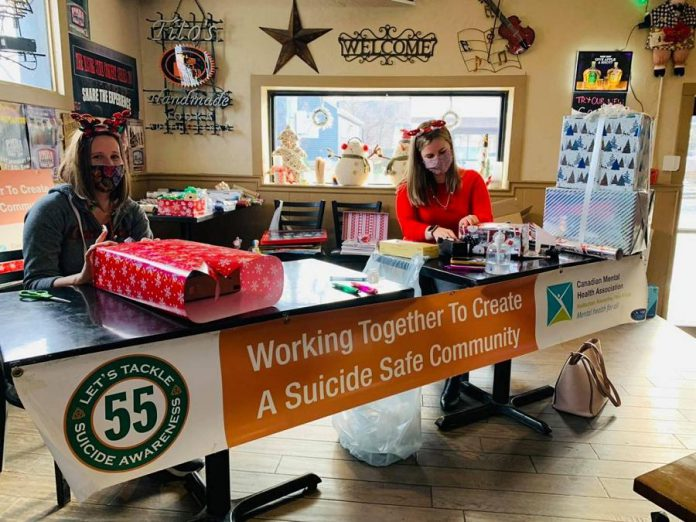 In December 2020, Dr. J's raised $2,450 for mental health and suicide awareness by holding a gift-wrapping fundraiser. (Photo courtesy of Dr. J's)