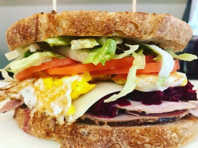 """Every day, Sam's Place Deli owner Sam Sayer announces a special sandwich of the day on their social media platforms. Every """"samwich"""" is freshly made to order. Sam's Place also serves soups, salads, and desserts which are also prepared fresh daily. (Photo courtesy of Sam's Place)"""