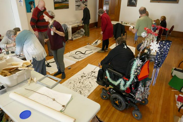 In 2018, The Mount Community Centre hosted 'You Can Make It Art' drop-in art making workshops for the general community. The workshops resumed this past fall, but only for residents of the centre. (Photo: John Marris)