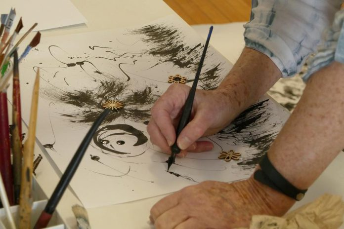 Community art making at The Mount Community Centre. (Photo: John Marris)
