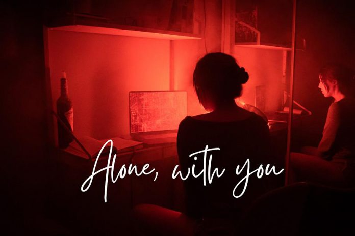 "Public Energy is also presenting ""Alone, with you"", devised digital theatre created by Ashley Frederick and Noah Sisson, which premiered on March 6, 2021. (Graphic: Public Energy)"