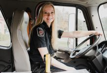 """For her project """"Inspire: The Women's Portrait Project"""", Peterborough photographer Heather Doughty has taken almost 400 photos of inspiring women, including Ilana Overink of the Selwyn Fire Department. For her latest project """"She Inspires Me"""", Doughty is encouraging people to submit their own photos and stories of inspirational women, including young girls, female-identifying, and non-binary individuals. (Photo: Heather Doughty)"""