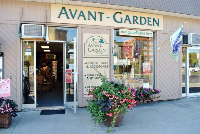 The doors to The Avant-Garden Shop in downtown Peterborough are open again for in-person shoppers, with COVID-19 health and safety protocols in place. You can also order online for shipping, curbside pickup, or delivery. (Photo courtesy of The Avant-Garden Shop)