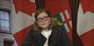 Dr. Barbara Yaffe, Ontario's associate chief medical officer of health, provided an update on the current status of the COVID-19 pandemic in Ontario during a media briefing on April 15, 2021. (CPAC screenshot)
