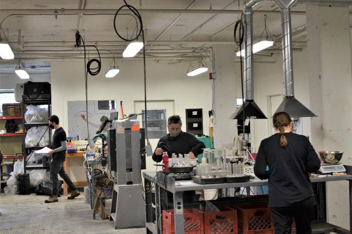Cambium's new materials testing laboratory at Sophia Street in Peterborough's East City. The company, which is currently renovating the location to consolidate its multiple Peterborough operations, also has offices in Barrie, Oshawa, Kingston, and Calgary. (Photo: Cambium Inc.)