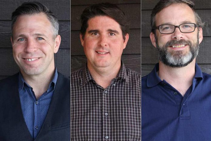 Cambium was founded in Peterborough in 2006 by John Desbiens, Jim Bailey, and Dave Bucholtz. (Photos: Cambium Inc.)