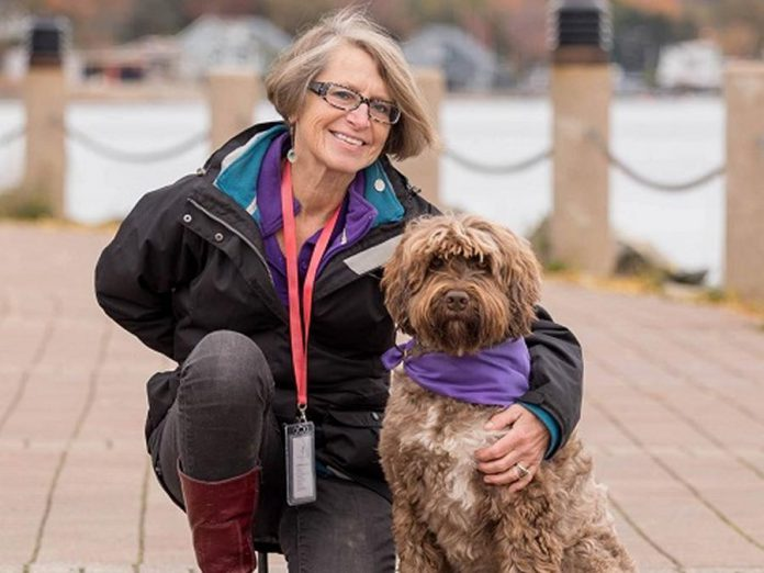 Dr. Ardra Cole, professor in the Faculty of Education at Mount Saint Vincent University in Halifax, Nova Scotia, is the founder of ElderDog Canada. The organization grew out of Dr. Cole's research on the role of dogs in the health and well-being of people with dementia as well as their caregivers, her volunteer experience with animal-assisted therapy for seniors in long-term and palliative care, and a personal experience of human loss and love for an old and ill dog. (Photo via Mount Saint Vincent University)