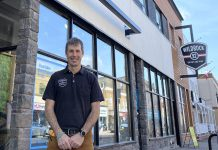 Scott Murison, co-owner of Wild Rock Outfitters in downtown Peterborough and a founding member of Green Economy Peterborough, says being part of the network means local businesses can share ideas, learn from others, and set an example that others can follow. Green Economy Peterborough officially launches on Earth Day (April 22) with a virtual event featuring local business leaders and a presentation by a sustainability expert. (Photo: Ben Hargreaves)