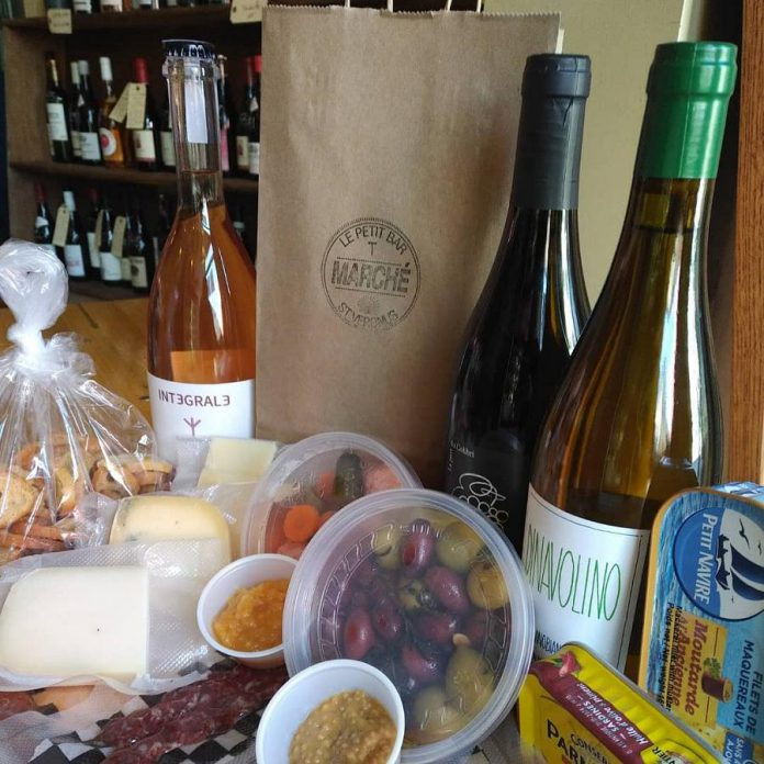 Le Petit Bar in downtown Peterborough offers an impressive bottleshop, house-made charcuterie, pickles, kettle chips, and a selection of small batch Canadian-made cheeses. (Photo: Le Petit Bar)