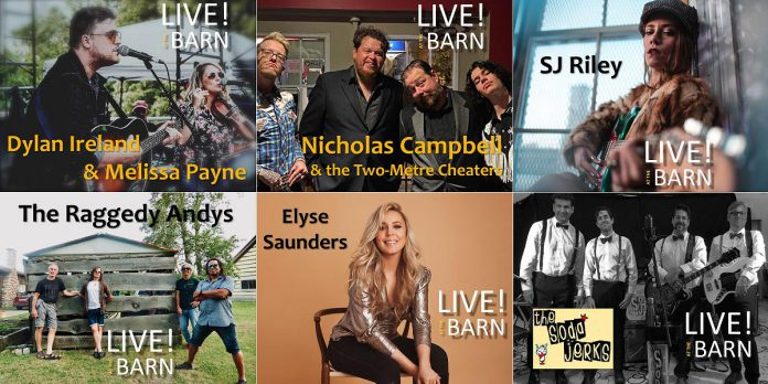 The line-up of musicians for the third season of Andy Tough's Live! at the Barn series of recorded live performances. Recording is set to begin at the Tough family's Norwood-area barn studio in June with a YouTube premiere in mid August. (Photos supplied by Andy Tough)