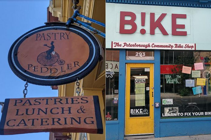 Pastry Peddler in Millbrook and B!KE: The Peterborough Community Bike Shop have been chosen by the Ontario By Bike network as the best bicycle-friendly businesses in the Kawarthas Northumberland tourism region.