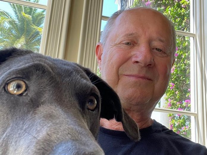 Peterborough-area business owner Glenn Stonehouse (pictured with Misty) has donated $300,000 to Peterborough Humane Society's new animal care centre. (Supplied photo)