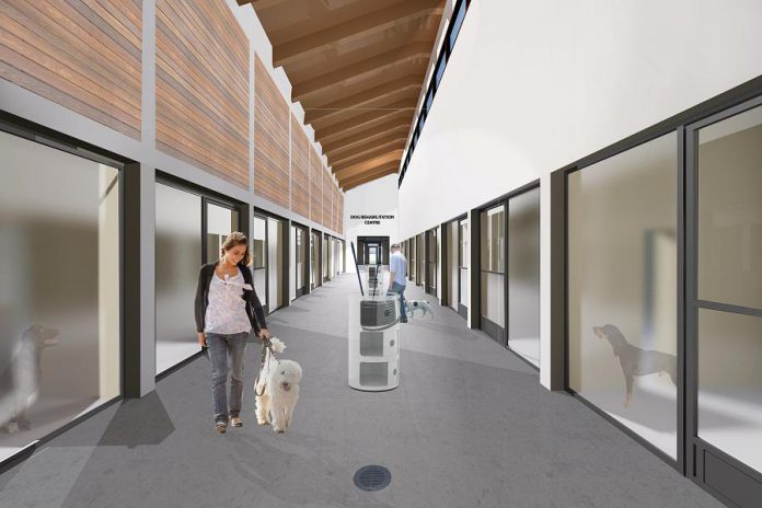 A rendering of the dog kennels at the Peterborough Humane Society's new animal care centre. In recognition of Stonehouse's donation, the dog adoption program at the new centre will be named the Glenn Allan Stonehouse Dog Adoption Program.  (Supplied photo)