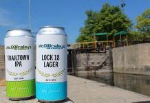 In recognition of the 101st anniversary of through navigation on the Trent-Severn Waterway, Regional Tourism Organization 8 (RTO8) and Parks Canada have partnered to create the new 'Taste of the TSW' initiative, where local culinary providers are encouraged to showcase a product celebrating the waterway. Pictured are the Lock 18 Lager and Trailtown IPA from McGillicafey's Pub & Eatery at 13 Bridge Street North in Hastings. (Photo courtesy of RTO8)