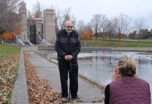 "A scene from Peterborough filmmaker Keith Smith's 2019 short ""The Photo"", inspired by a real-life encounter Smith had 20 years ago. The 12-minute film, which was shot at the Peterborough Lift Lock, has garnered numerous accolades and award nominations at international film festivals in 2021. The film stars Peterborough community theatre actors Glen Walker and Rhonda Brewster. (Screenshot)"