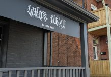 The Who's Next barber shop is located at 72 Hunter Street East in Peterborough's East City. (Photo: Bruce Head / kawarthaNOW)